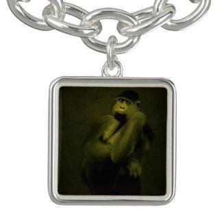Gorilla Art Charm Bracelet
