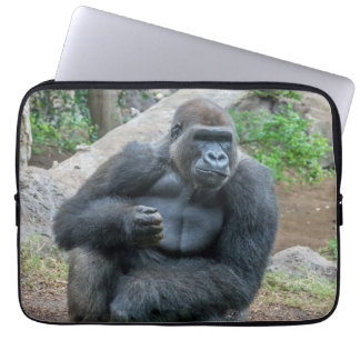 Gorilla at the zoo laptop sleeve
