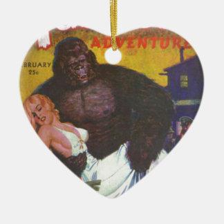 Gorilla Boyfriend Ceramic Ornament