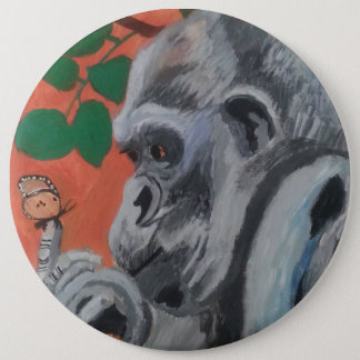 Gorilla & butterfly button