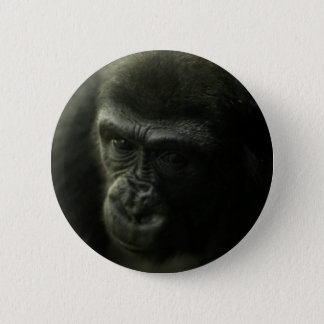 Gorilla Closeup.png 2 Inch Round Button