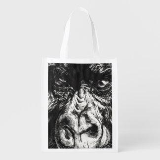 Gorilla Face Reusable Bag