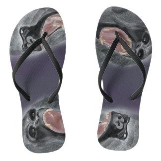 Gorilla growl flip flops
