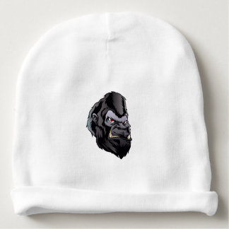 gorilla head illustration baby beanie