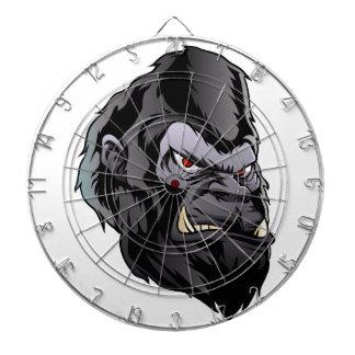 gorilla head illustration dartboard