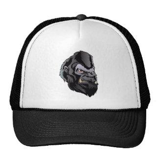 gorilla head illustration trucker hat