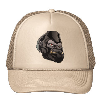 gorilla head illustration trucker hat