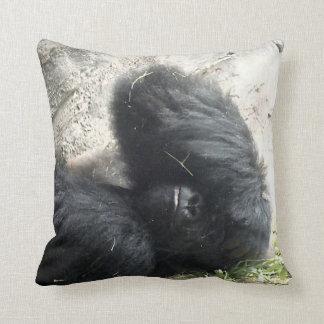 Gorilla Headache Throw Pillow