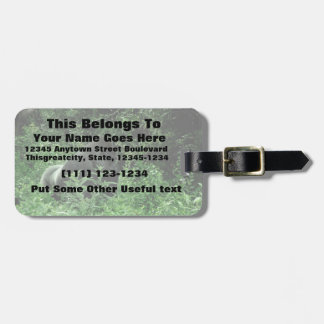 Gorilla in leaves green tint wildlife animal luggage tag