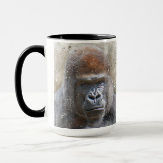 Gorilla in the Midst Photography Modern Watercolor Mug