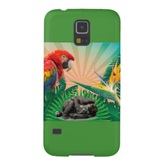 Gorilla jungle parrot galaxy s5 cases