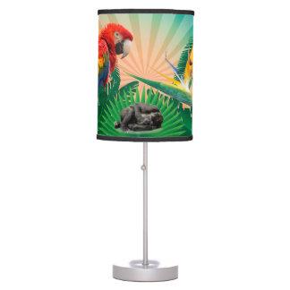 Gorilla jungle parrot table lamp