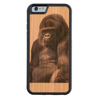 Gorilla Monkey Ape Carved Cherry iPhone 6 Bumper Case