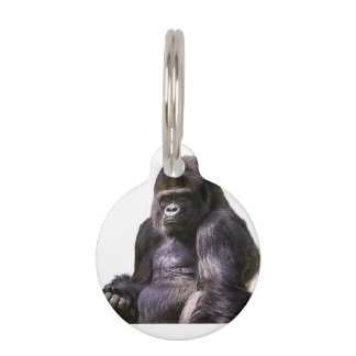 Gorilla Monkey Ape Pet Name Tag