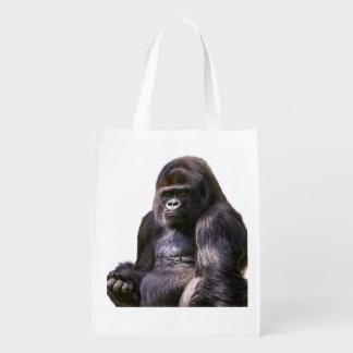 Gorilla Monkey Ape Reusable Grocery Bag