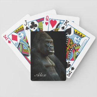 Gorilla Photo Bicycle Playing Cards