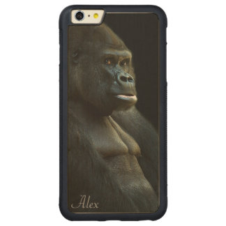 Gorilla Photo Carved Maple iPhone 6 Plus Bumper Case