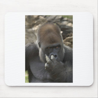 gorilla picking his nose - eeeewwwwwwww! mouse pad