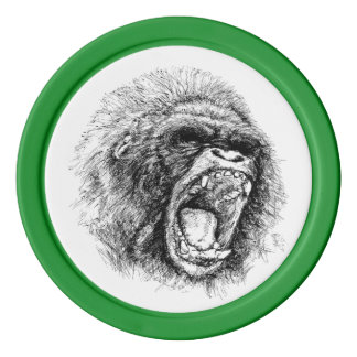 Gorilla Poker Chips