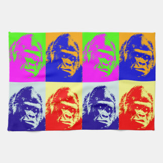 Gorilla Pop Art Kitchen Towel