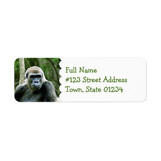 Gorilla Profile Return Address Label