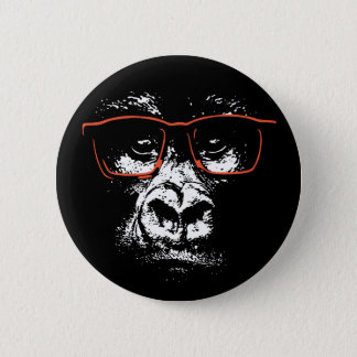Gorilla Red Glasses 2 Inch Round Button