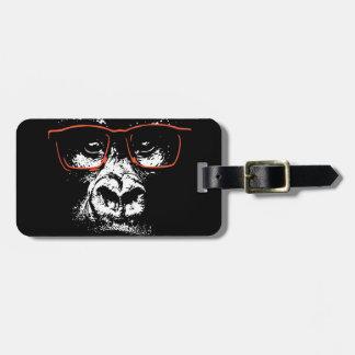 Gorilla Red Glasses Bag Tag