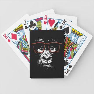 Gorilla Red Glasses Bicycle Playing Cards