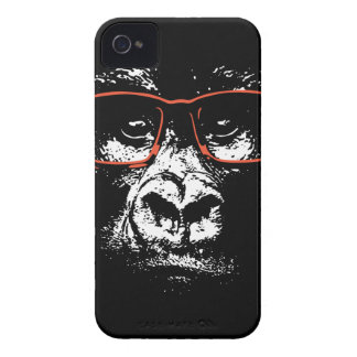 Gorilla Red Glasses iPhone 4 Cover