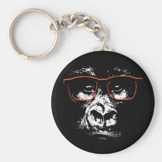Gorilla Red Glasses Keychain