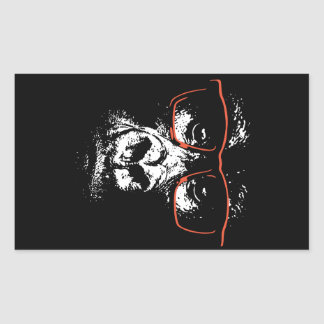 Gorilla Red Glasses Sticker