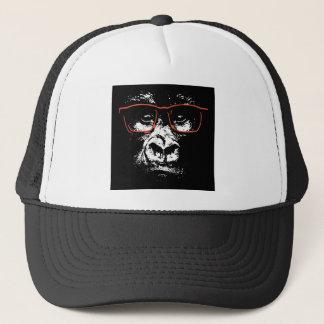 Gorilla Red Glasses Trucker Hat