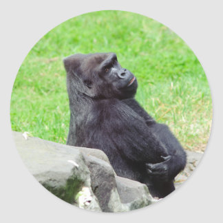 Gorilla Relaxing Sticker