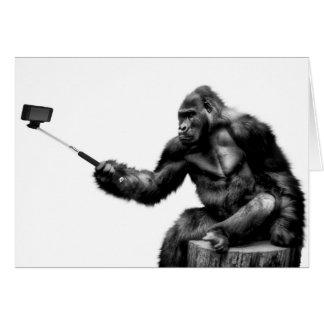 Gorilla Selfie Greetings Card