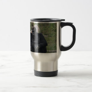 Gorilla sitting travel mug