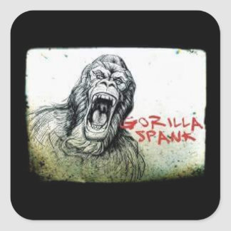 Gorilla Spank Angry Gorilla Sticker
