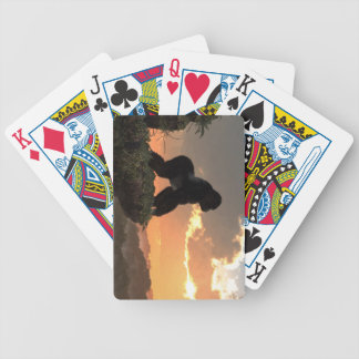 Gorilla Sunset Bicycle Playing Cards