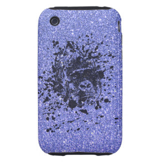 Gorilla with Blue Glitter iPhone 3 Tough Cases