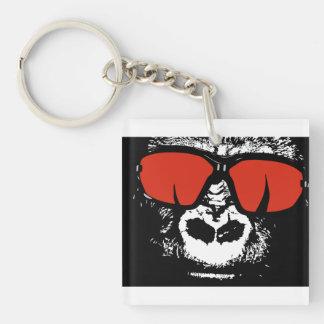 Gorilla with glasses keychain