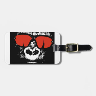 Gorilla with glasses luggage tag