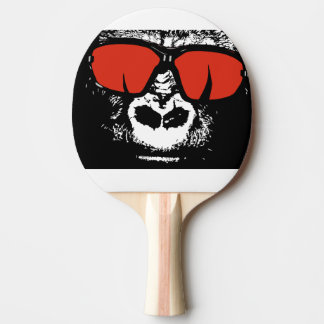 Gorilla with glasses ping pong paddle