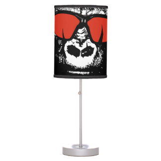 Gorilla with glasses table lamp