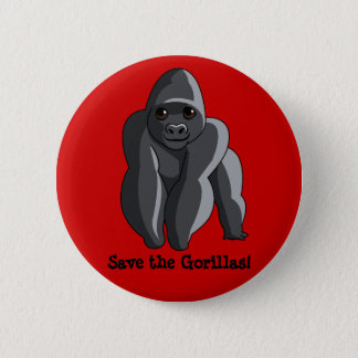Gorillas 2 Inch Round Button