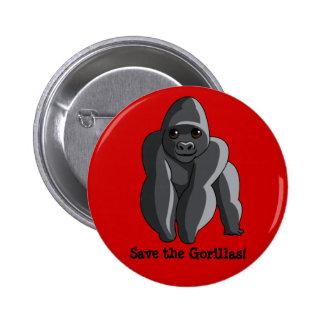 Gorillas 2 Inch Round Button