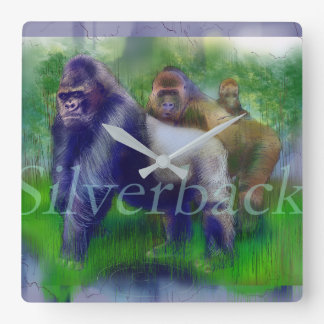 Gorillas in Our Midst Wall Clock