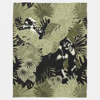 Gorillas In The Rain Forest #1 Fleece Blanket