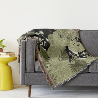 Gorillas In The Rain Forest #6 Throw Blanket