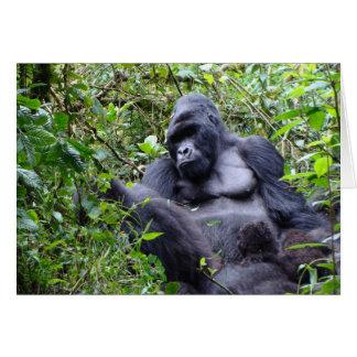 Gorillas- Rwanda Card