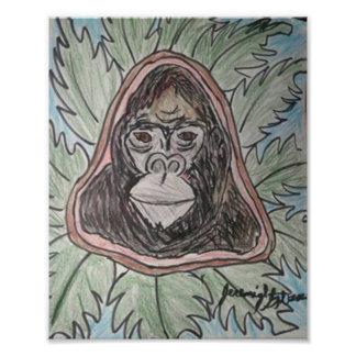 Gorillla Color Pencil Photo Print