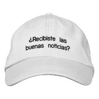 Gorra de buenas noticias embroidered baseball caps